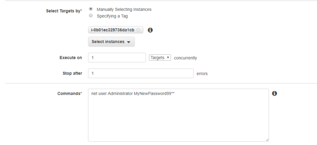 Resetting the password on your Windows EC2 instance via SSM